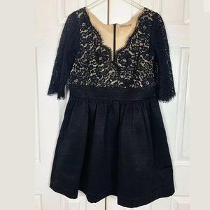 NWOT $148 Eliza J Lace & Faille Fit & Flare Dress